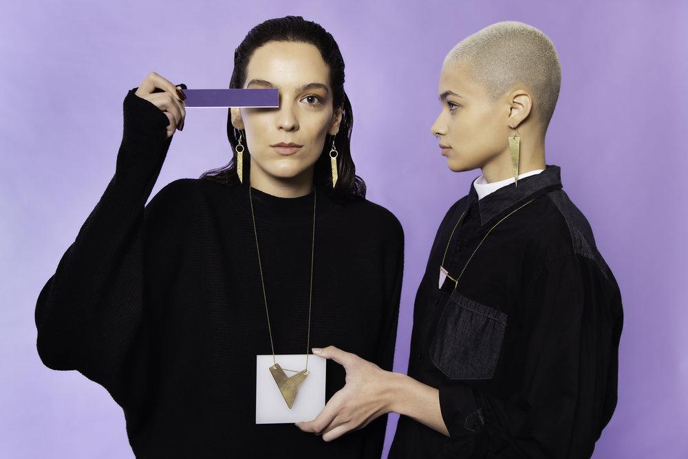 NECKLACE: ALELENA & BETH ANNE - EARRINGS: YO & CLEO