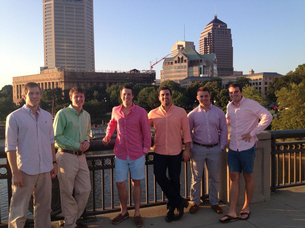 ATΩ brothers attend an Alumni's birthday party on the Santa Maria.
