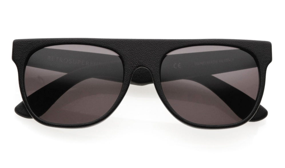 Black Leather Sunglasses from Retrosuperfuture