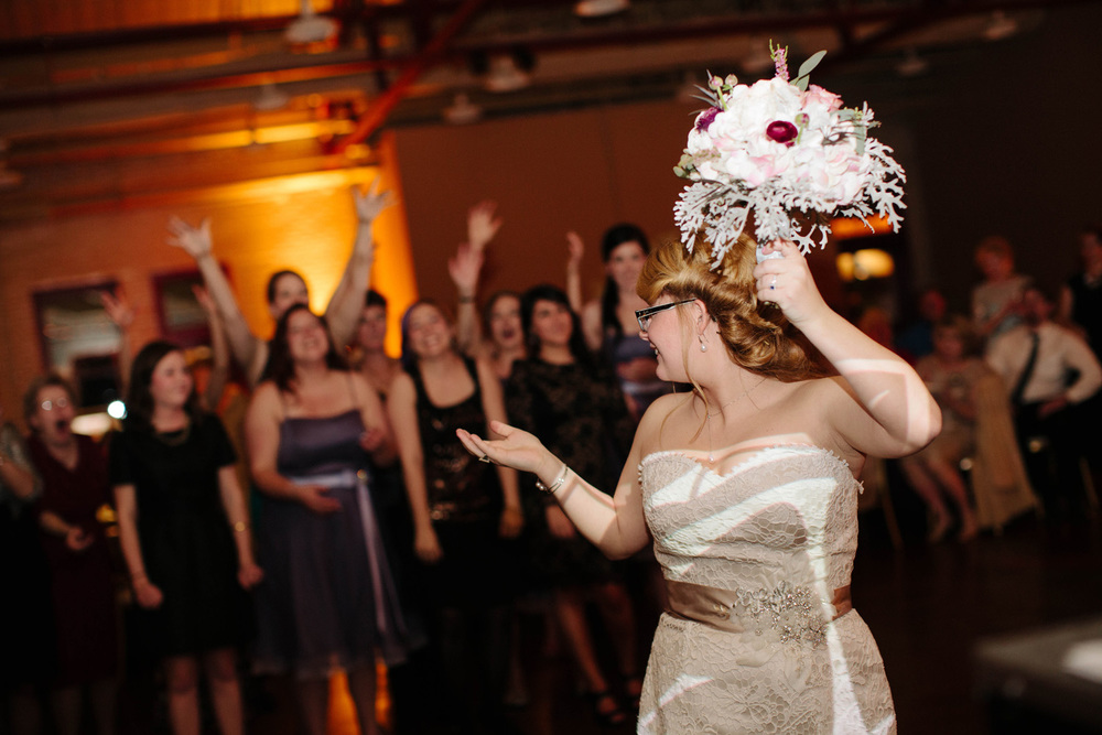 Fun Cobblestone Hall Wedding Reception
