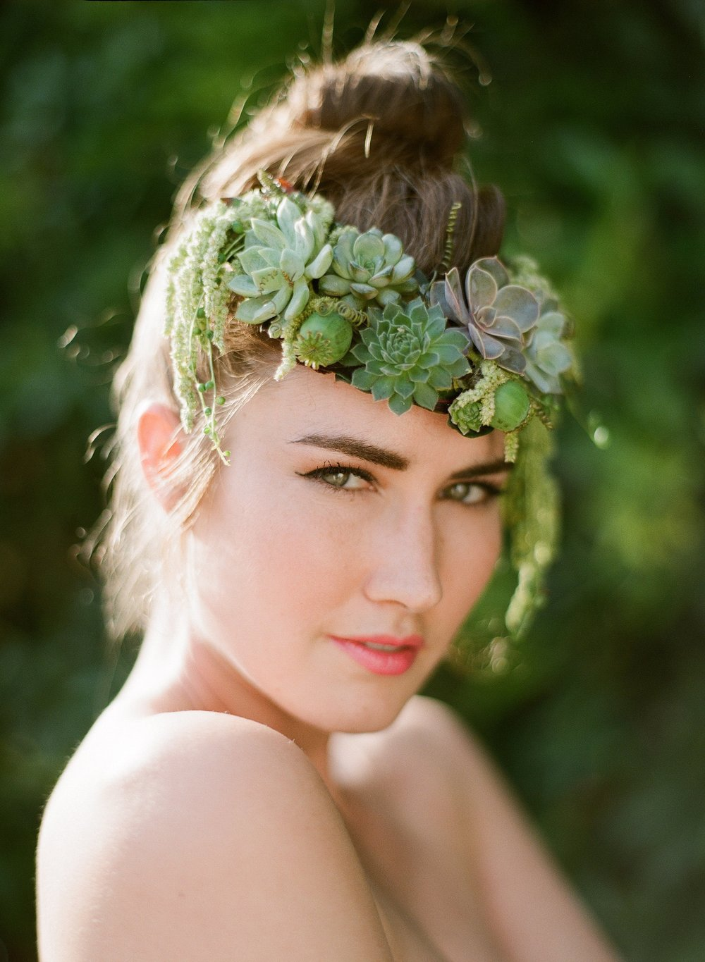 Succulent Headpiece, Floral Jewelry