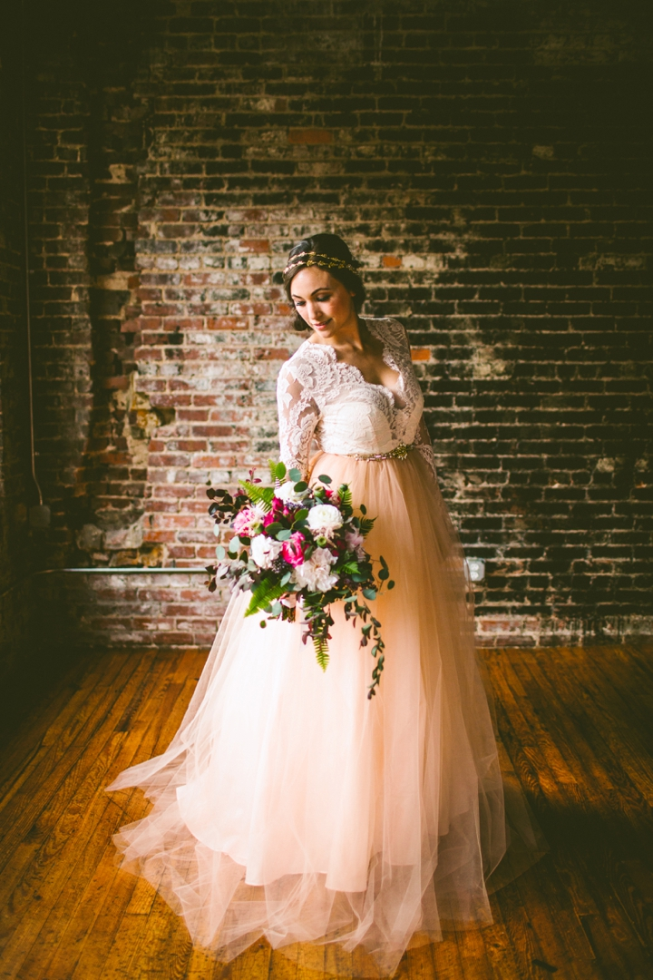 Gilded Bridal, The Stockroom, Eclectic Sage Bouquet