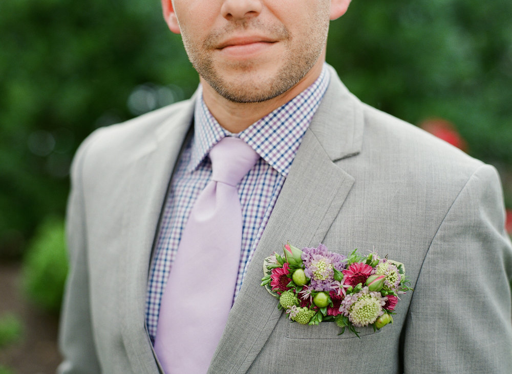 Grooms Flowers, Fresh Floral Pocket-square