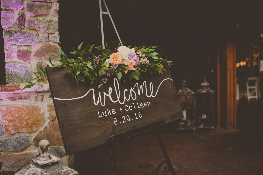 Angus Barn Wedding Entrance Sign