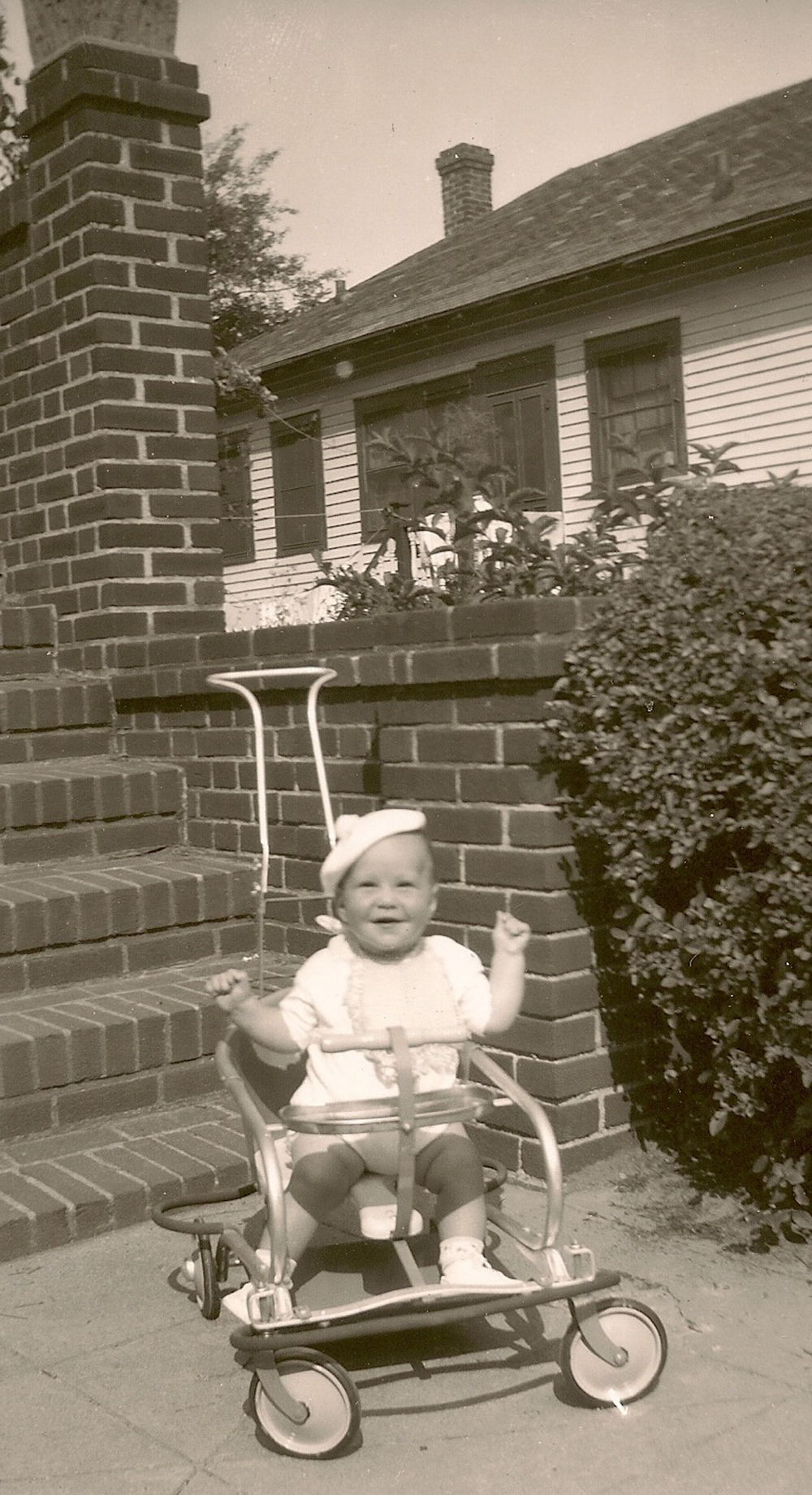 My Brother Mitchell In front of my house Apx 1949