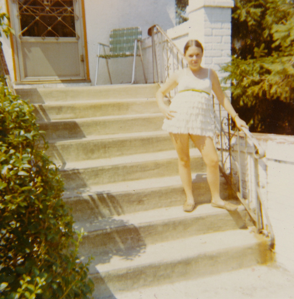 Me On The Front Steps Of Our Beach 15th Street Home Apx 1969/70