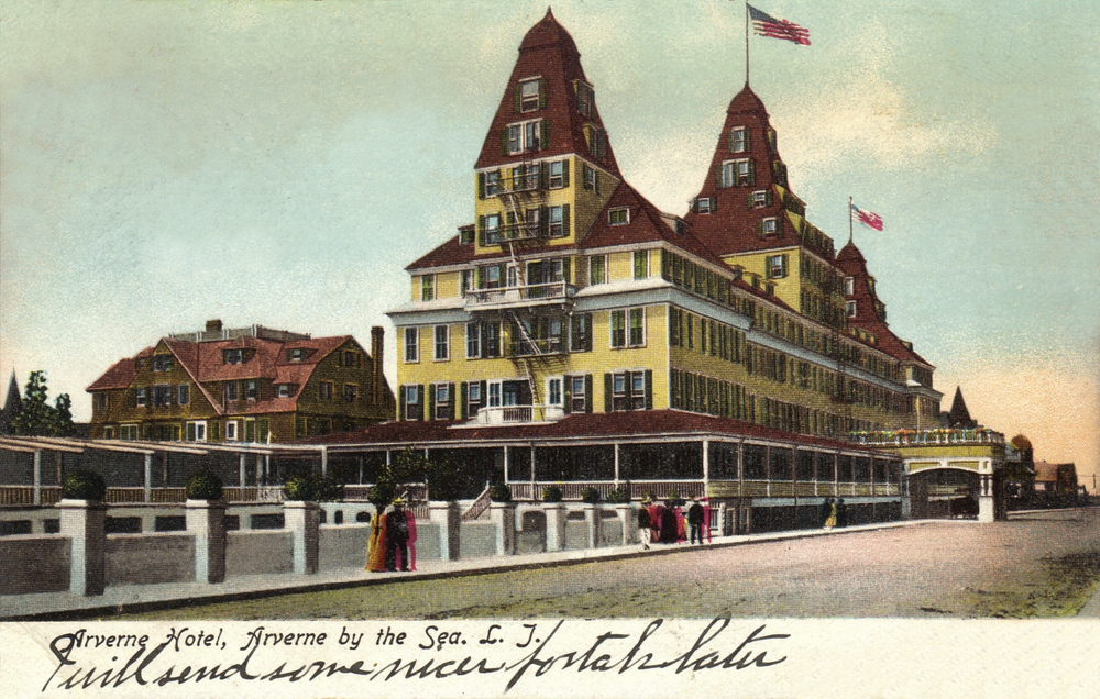 The Arverne Hotel opened in the late 1800's    Photo courtesy of the   Leiman Library     and The Leiman Collection on   Rockawaymemories.com