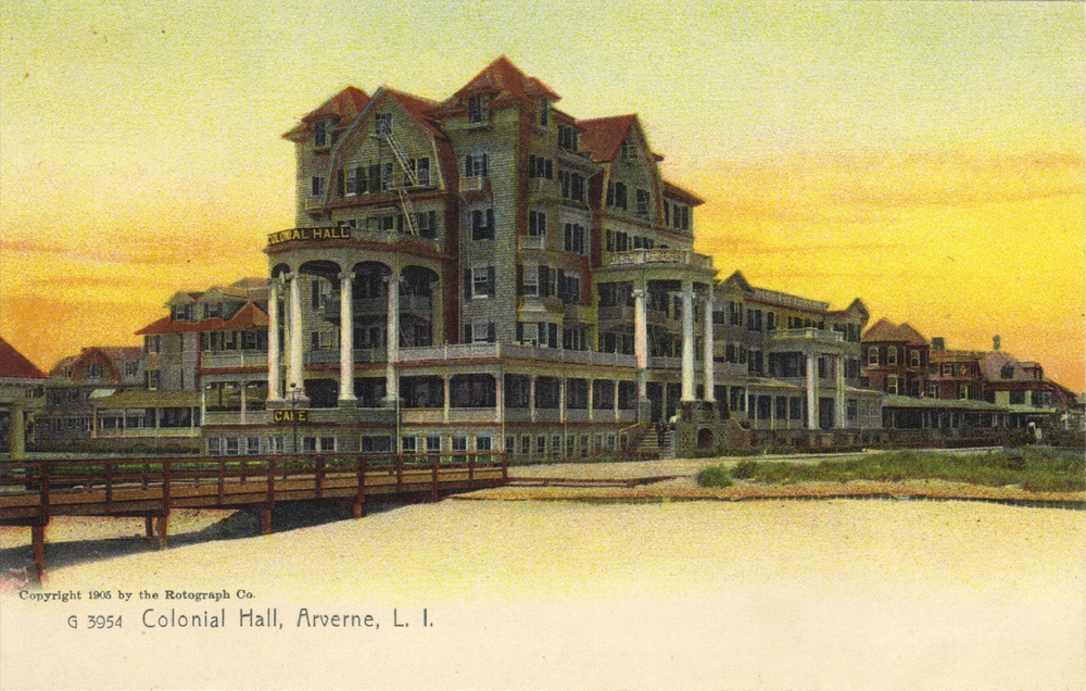 Colonial Hall, Arverne    Photo courtesy of the   Leiman Library     and The Leiman Collection on   Rockawaymemories.com