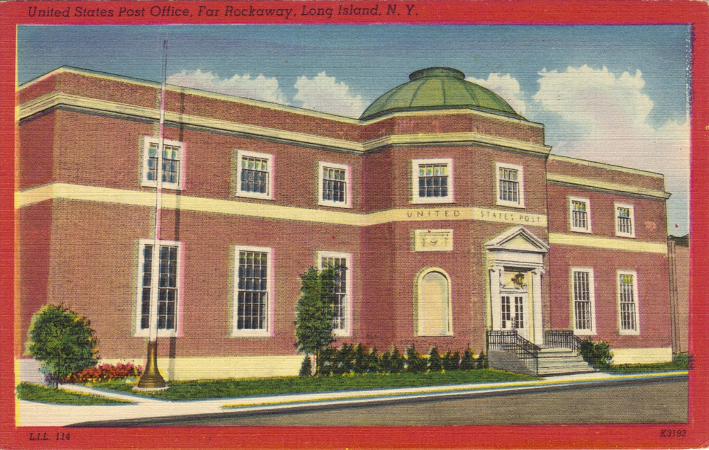 The Far Rockaway Post Office    Photo courtesy of the   Leiman Library     and The Leiman Collection on   Rockawaymemories.com