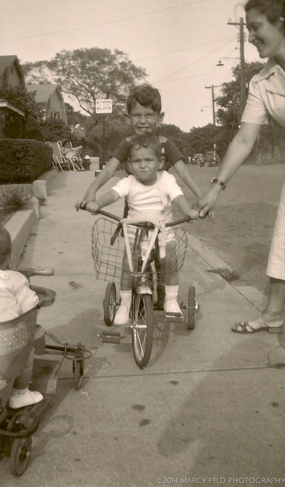 My aunt & cousins with my brother in that stroller in Edgemere probably some in 1949