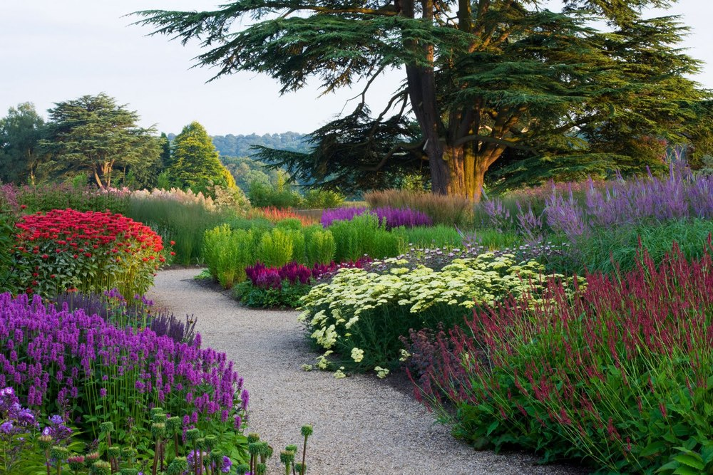 Planted drifts mimic natural meadow drifts, giving a repetitive, pleasing appearance.