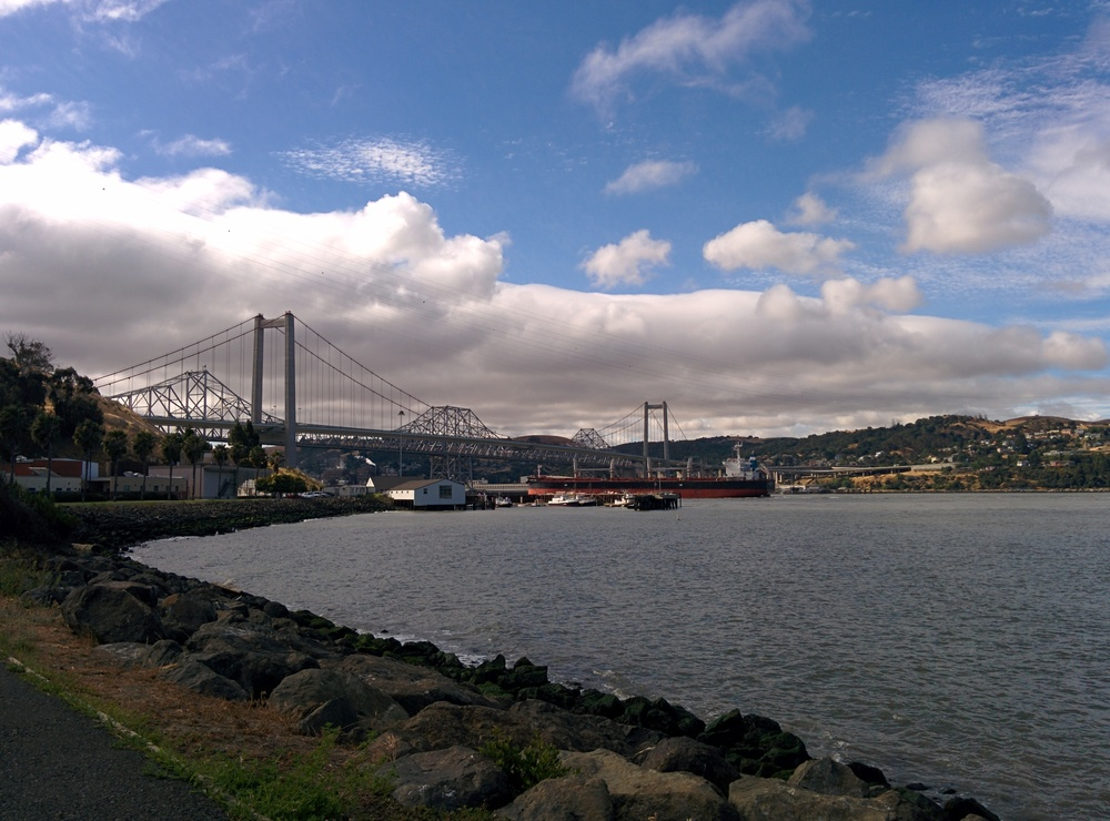 Bay Bridge, old and new.