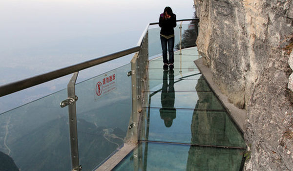 A glass floor is always good to have.