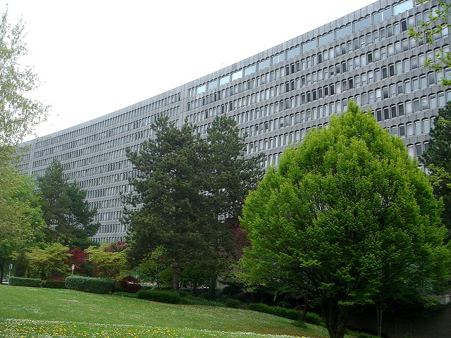 The headquarters of the International Labour Organisation in Geneva, Switzerland.