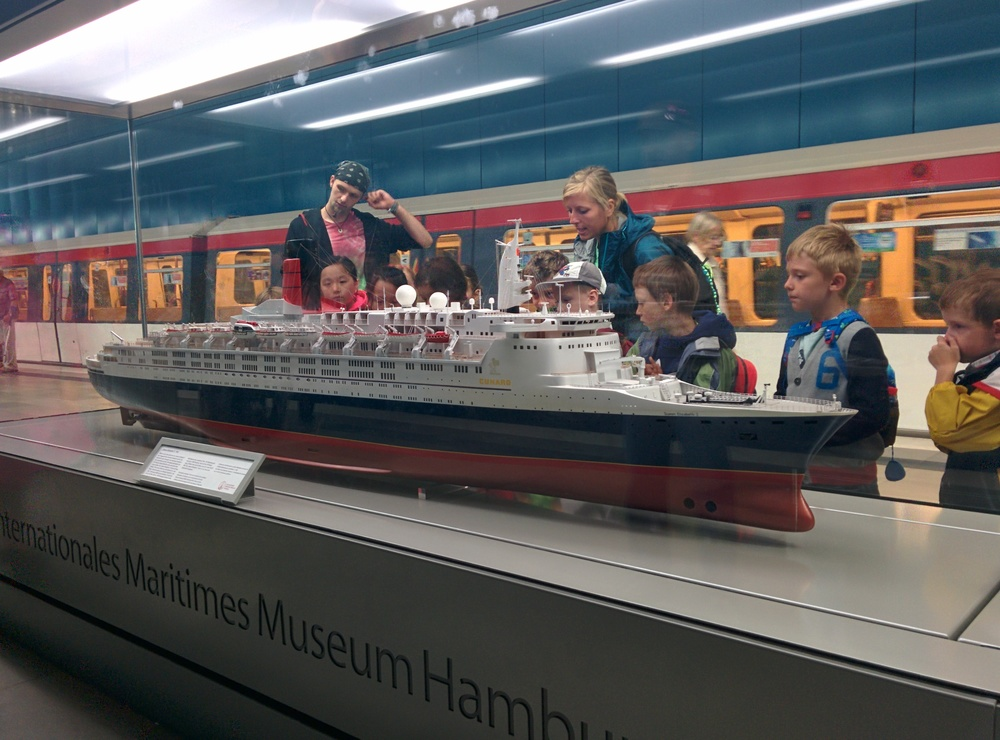 Of course, children love ocean liners.
