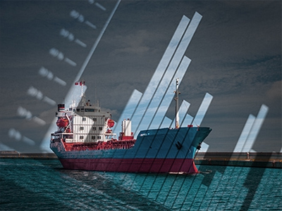 This picture of a ship with a graph is to make you feel like dynamic insurance activities are happening.