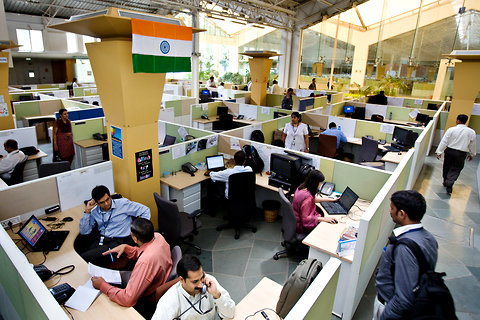 Aich Technologies offices in India, one of numerous Indian software outsourcing providers.