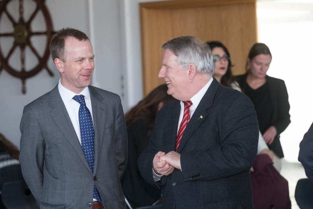Consul US Consult Michael Gray & Capt. Michael Gross, GAMI Board Member