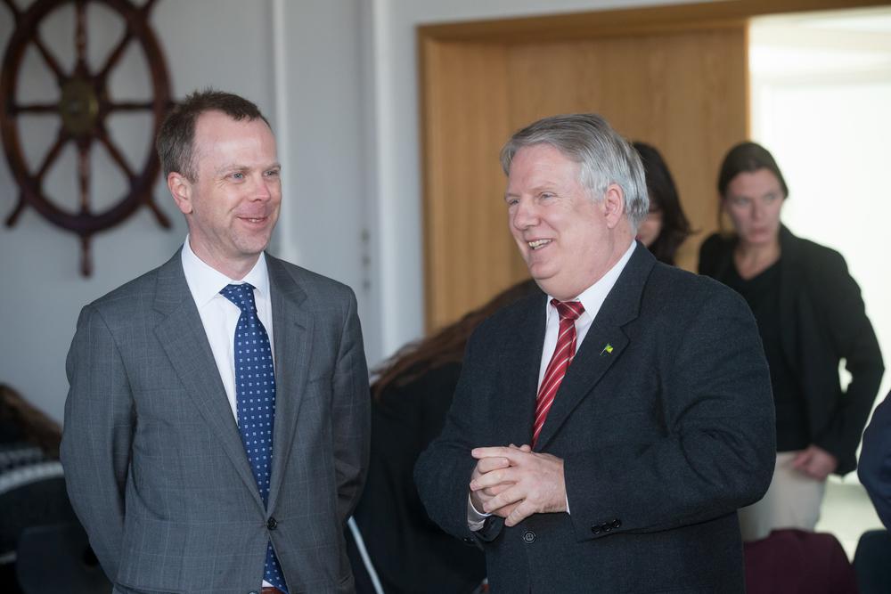US Consul Michael Gray & Capt. Michael Gross, GAMI Board Member