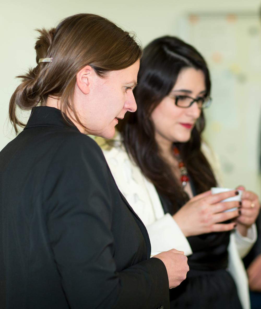 Sarah Fiona Gahlen, University of Kiel and GAMI Vice-President & Julia Lessa, City University London and GAMI Board Member