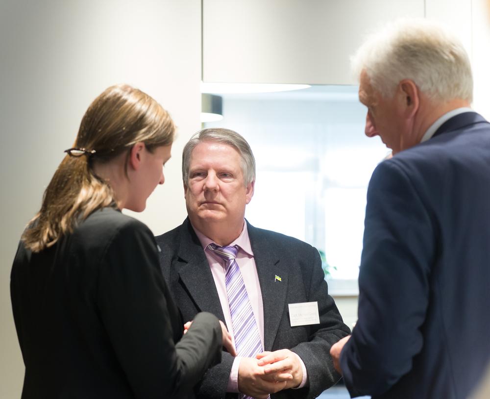 Sarah Fiona Gahlen, University of Kiel & Capt. Michael Gross & Capt. Wilhelm Mertens, Geschäftsführer des Verbands Deutscher Kapitäne und Schiffsoffiziere (VDKS)