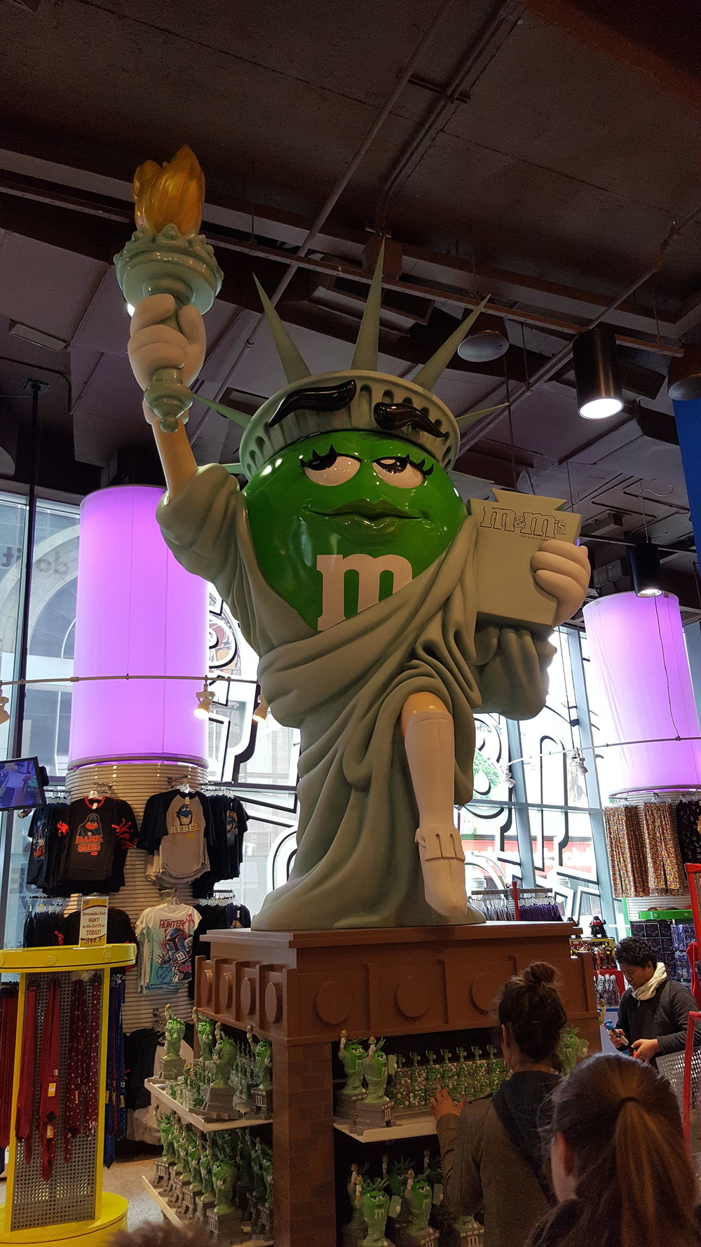 Experts agree that this patriotic M&M statue is not a cyber risk.