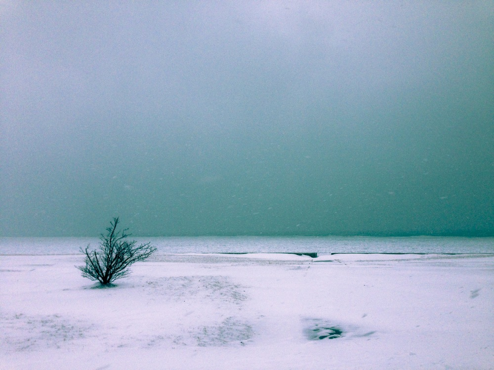 Lakefront in winter, Chicago