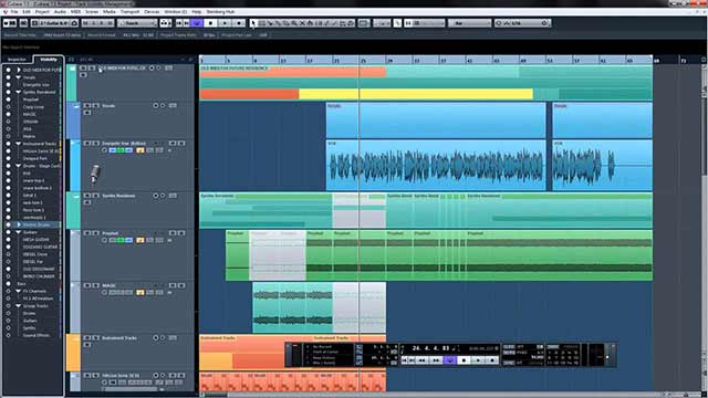Cubase screen shot