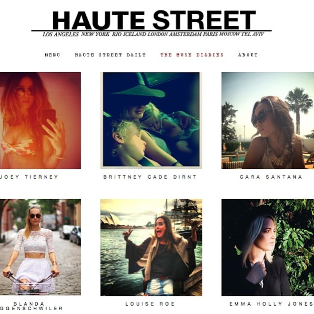 Really excited to be part of #theMUSEdiaries #hautestreet alongside @louiseroe @joeytierney follow our diaries !