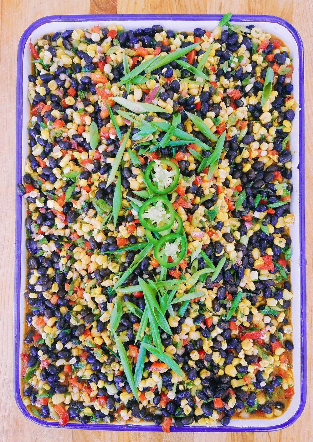 Southwestern Corn + Bean Salad   cilantro lime vinaigrette