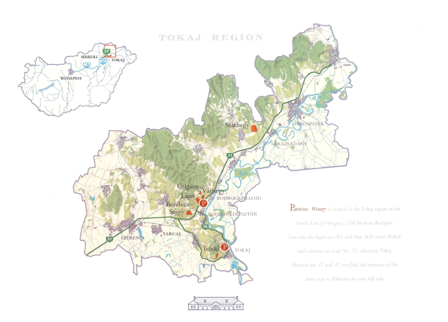 Tokaj wine region and our vineyards.