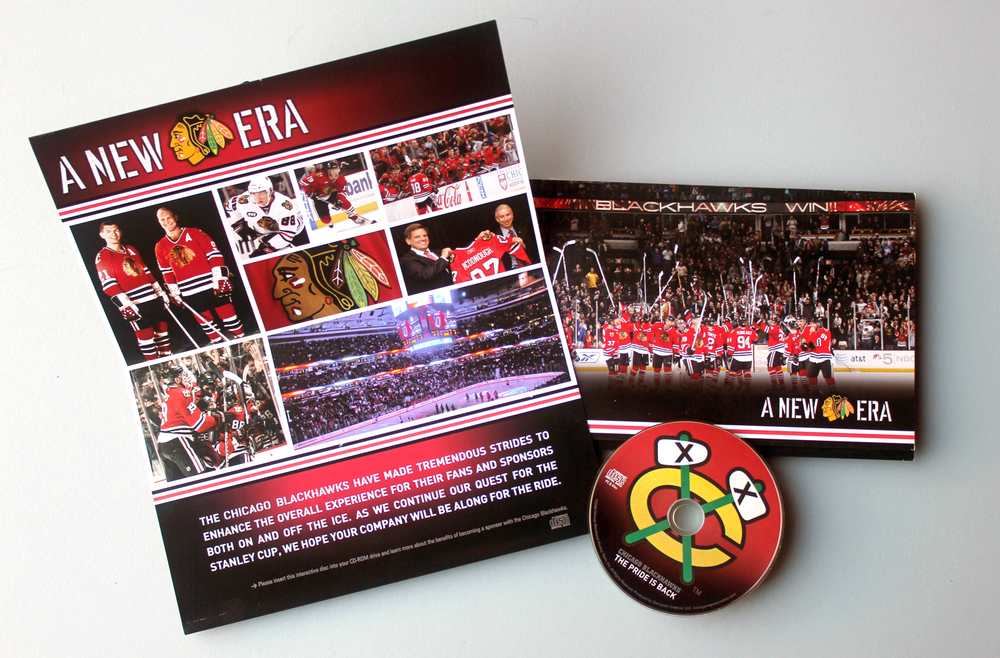 2008 Chicago Blackhawks - A New Era - Interactive Marketing Presentation - Custom Packaging