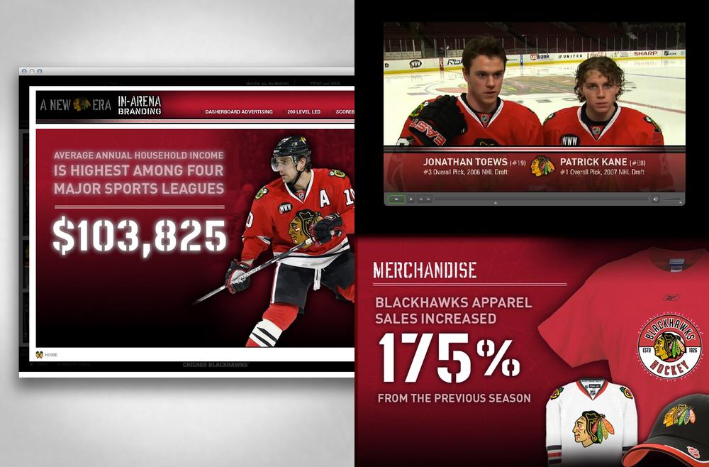 2008 Chicago Blackhawks - A New Era - Interactive Marketing Presentation - Details
