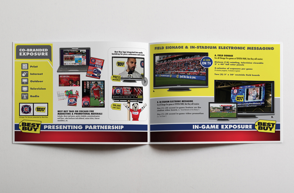 Chicago Fire Soccer / Best Buy Jersery Partnership Renewal Presentation - Free Standing Insert