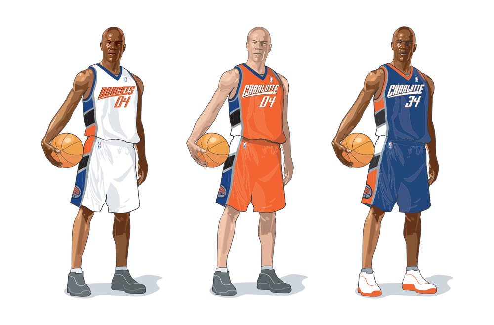 Charlotte Bobcats Uniform Design - Home, Road, Alternate