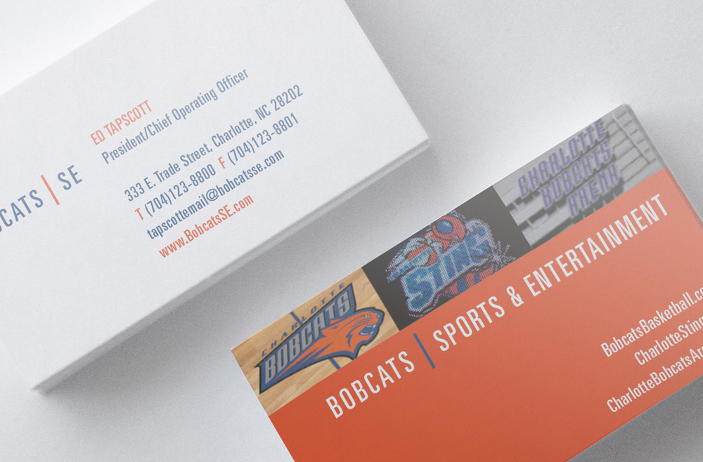Charlotte Bobcats Identity - Business Card