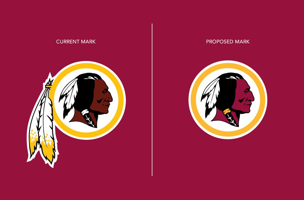 Washington Redskins - Primary Logo - Previous mark vs. Proposed mark