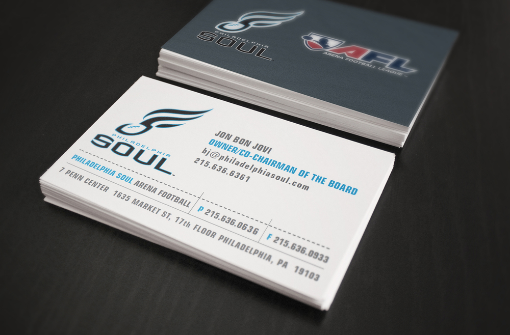 Philadelphia Soul Team Identity - Corporate Collateral - Business Cards