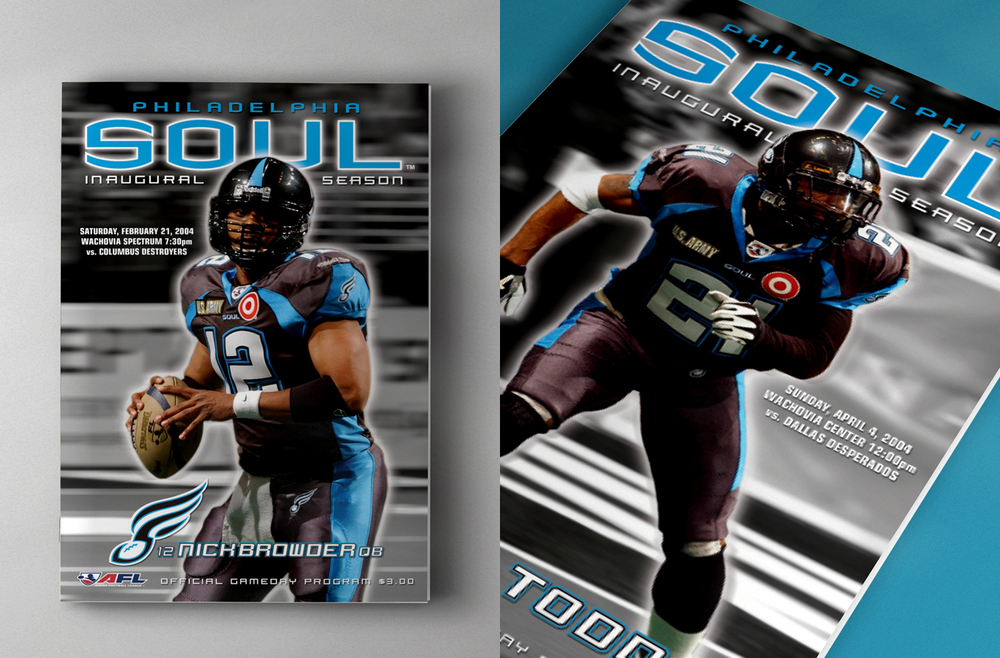 Philadelphia Soul Team Identity - Print Collateral
