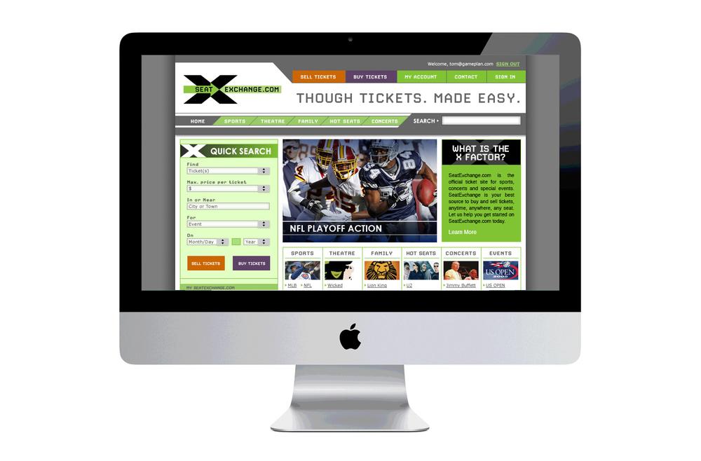 SeatExchange.com Web Design