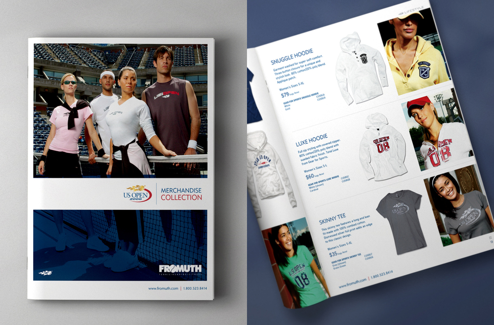 US Open Tennis Merchandise Catalog - Cover and Details