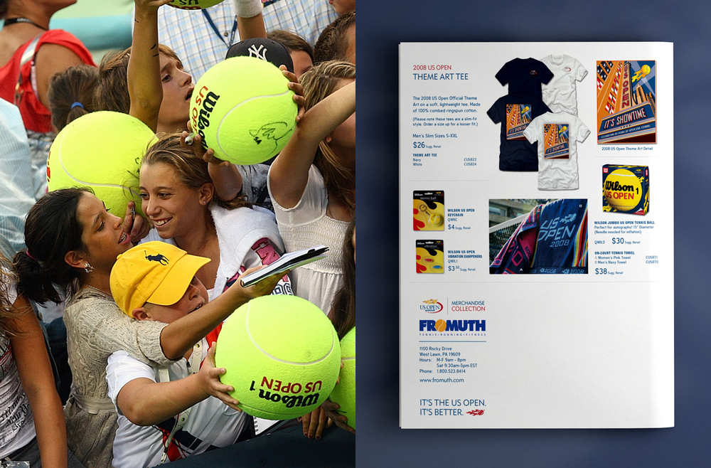 US Open Tennis Merchandise Catalog
