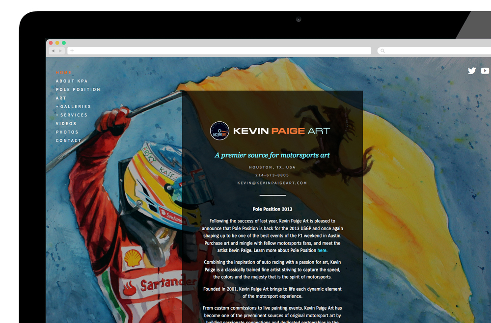 Kevin Paige Art Web Design