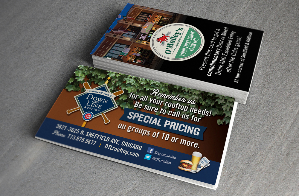 Down The Line Rooftop Identity - Business Cards