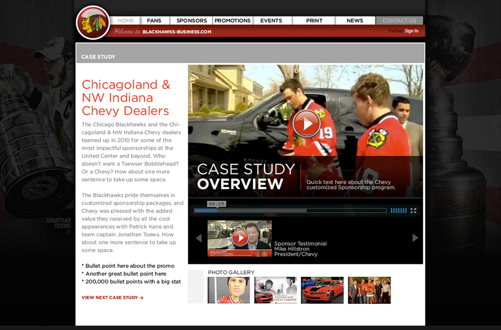 Chicago Blackhawks Business - Video Shoot