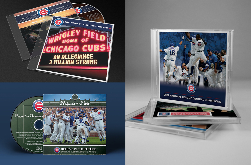 Chicago Cubs Interactive Marketing Presentations - CD-ROM Package Design