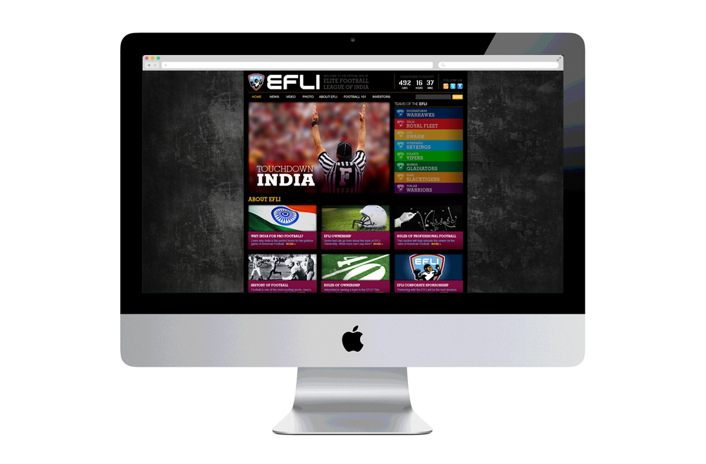 EFLI.com League Launch Web Design