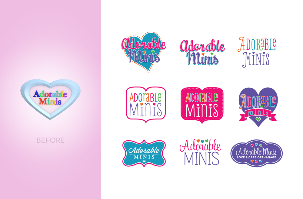 Adorable Minis Logo Design