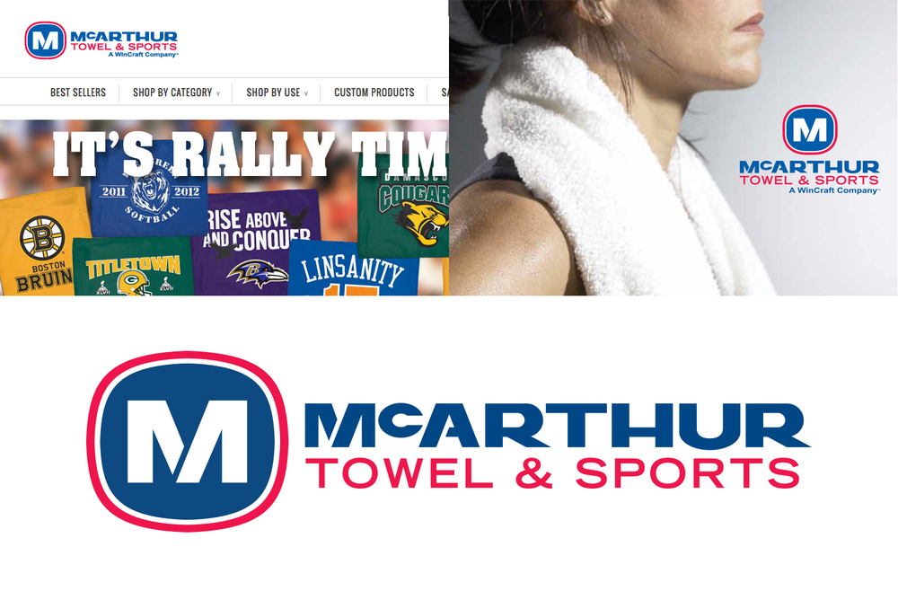 McArthur Towel & Sports Logo Design