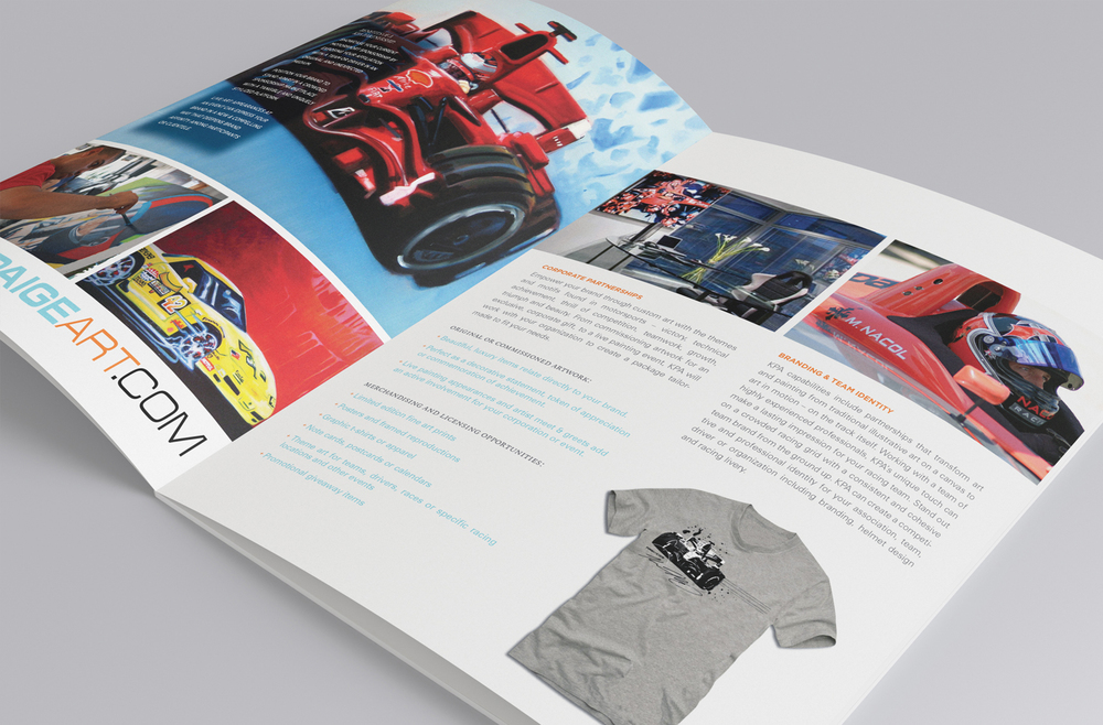 Kevin Paige Art Marketing Collateral - Brochure - Page Layout details